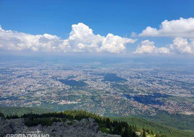 Връх Камен Дел гледка към София