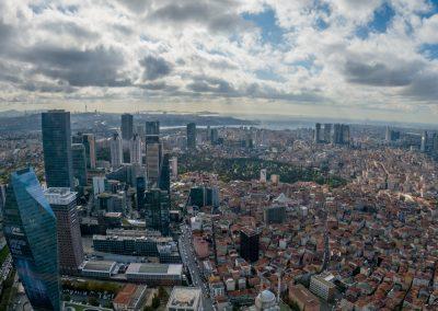 Гледка към Истанбул от високо
