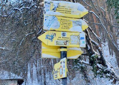 Боянски водопад през зимата